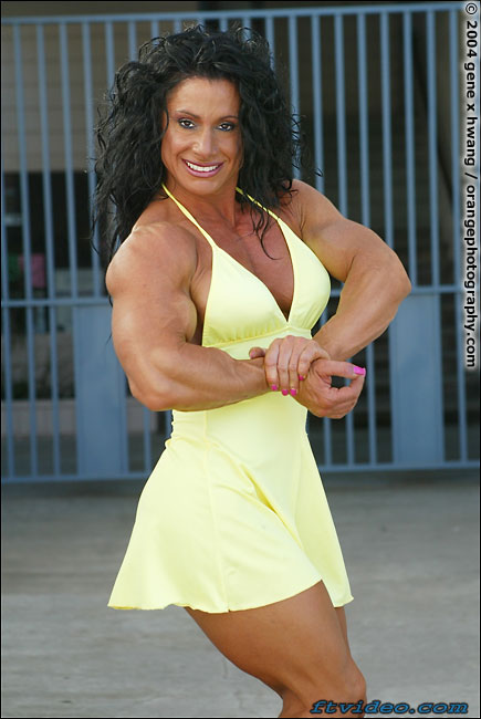 I'd be distracted if I had to workout next to Debbie Bramwell.