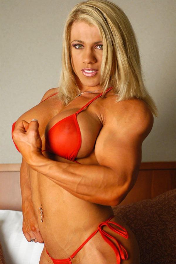 Blonde Muscle Goddess Melissa Dettwiller.