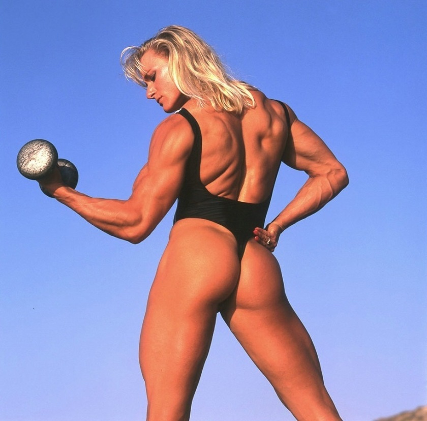 I'd go to the gym more often if women like Ericca Kern were hanging around the weight room.