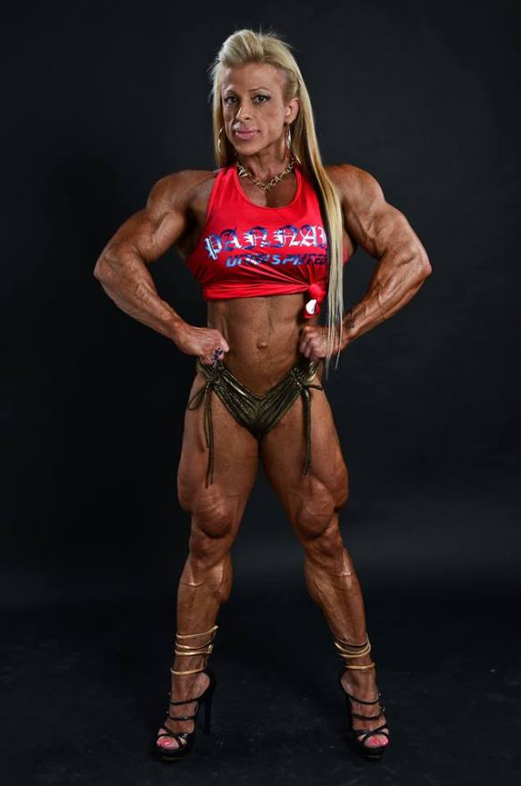 Who wouldn't want Anne Freitas to wrap her strong, powerful legs around them?