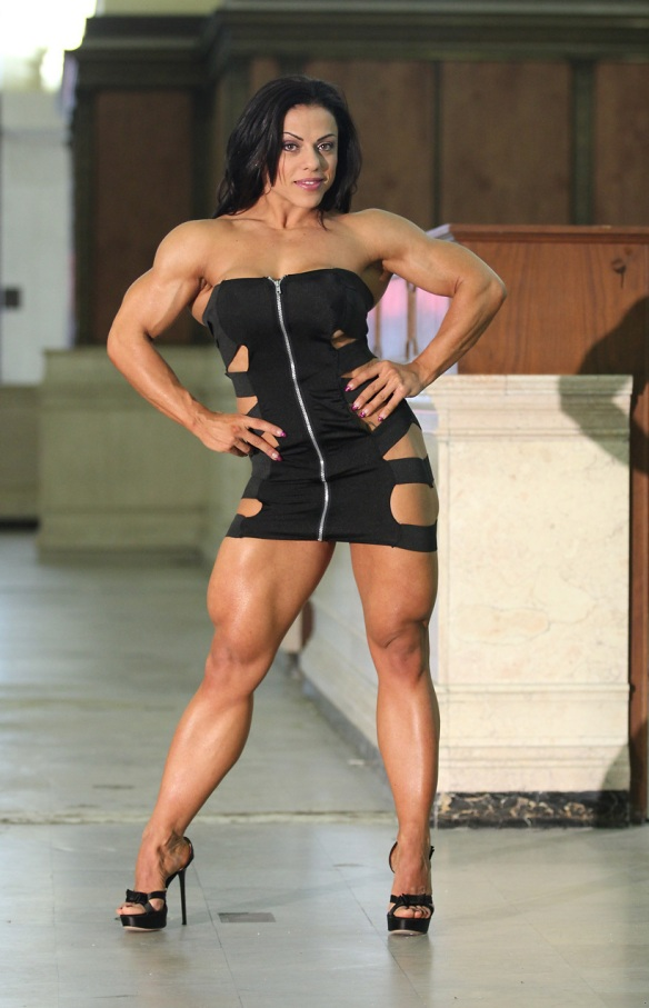 The Italian Muscle Goddess Mavi Gioia.