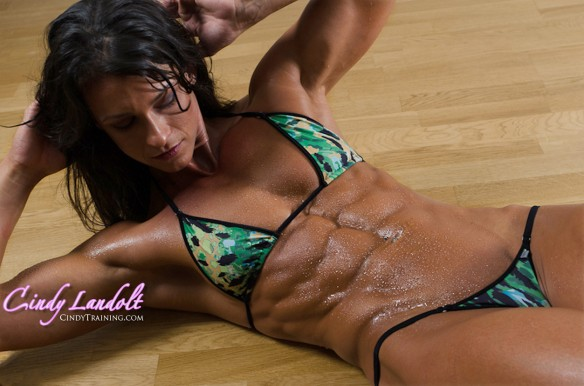 Don't you wish you had abs like Cindy Landolt?
