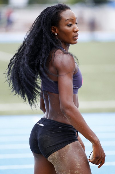 "Olympic track athlete Funmi Jimoh, born in Seattle, WA! She's the inspiration for ""Kristina,"" the girl Jonathan lost his virginity to years ago."