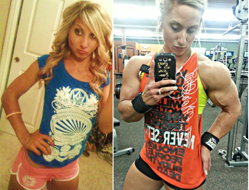 Shannon Courtney, before and after. She's cute before bulking up. Afterward...DAMN GIRL!