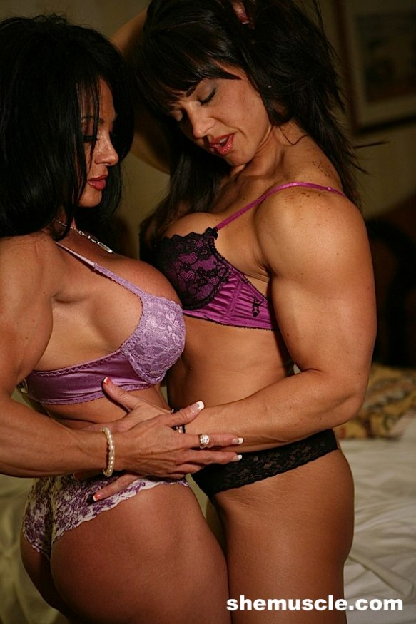 I leave you with this erotic image of Roxie Rain and Lynn McCrossin enjoying each other.