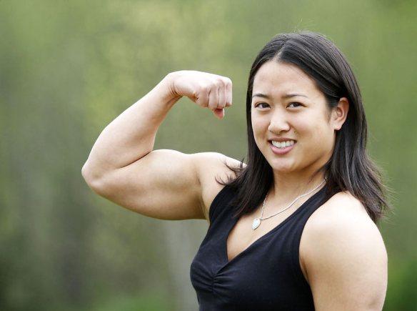 A buff, beautiful Asian woman. Amanda Lau is scarce, indeed.