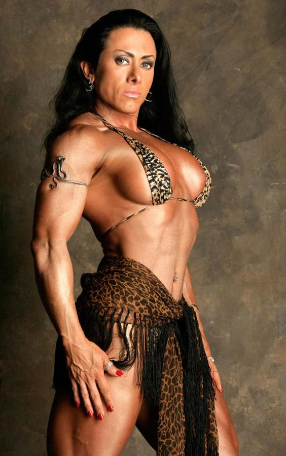 Who wouldn't want to touch the muscles of Monica Martin?