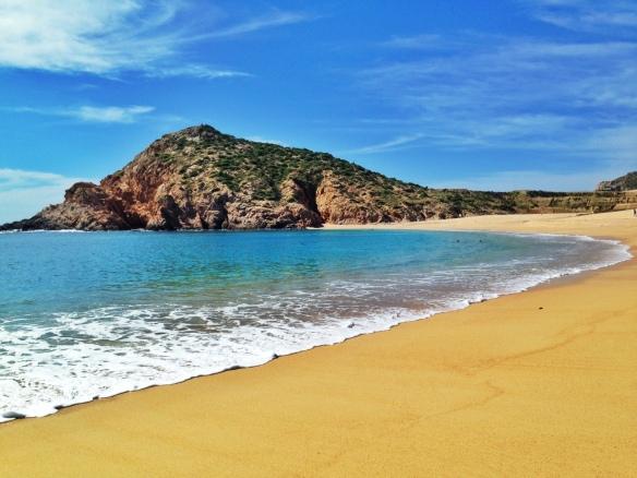 An idyllic beach in Cabo San Lucas.