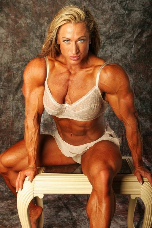 The chiseled physique of Heather Armbrust.