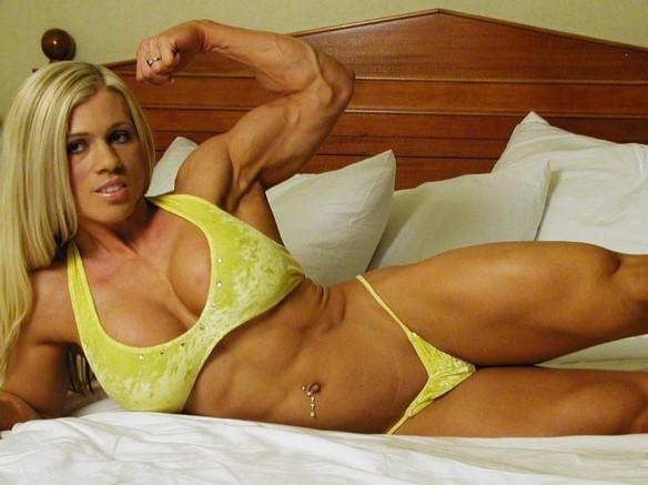 Melissa Dettwiller in a cute yellow bikini.