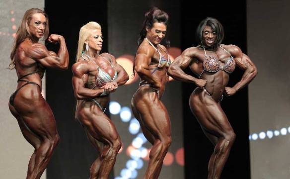 Four of the most beautiful women in the world: Yaxeni Oriquen, Anne Freitas, Alina Popa and Iris Kyle.