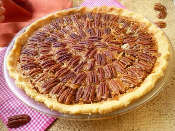 That pecan pie sure looks delicious!