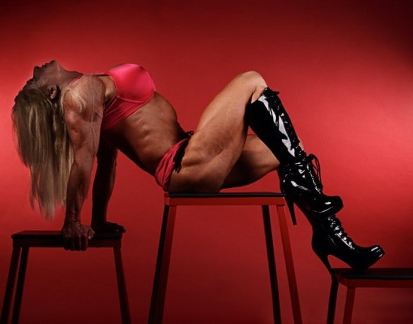 Amy Neal showing definitely has the legs to showcase those boots.
