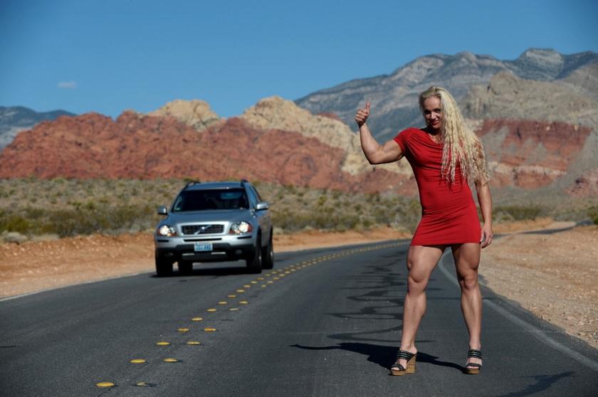 Any driver who doesn't pick up a hitchhiker like Nataliya Romashko would be a fool.