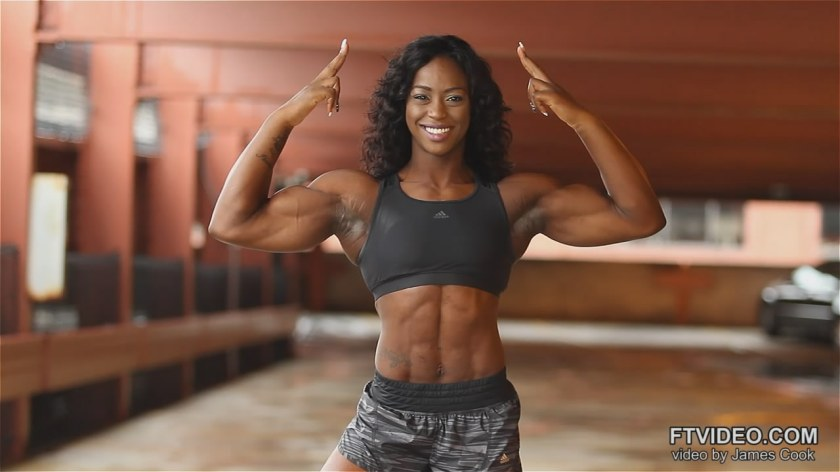 A rising star in the world of female bodybuilding, Sheronica Sade Henton.