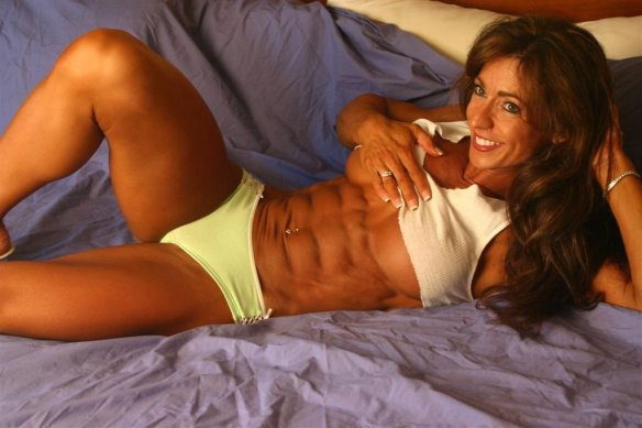 Love those abs on Karen Zaremba!