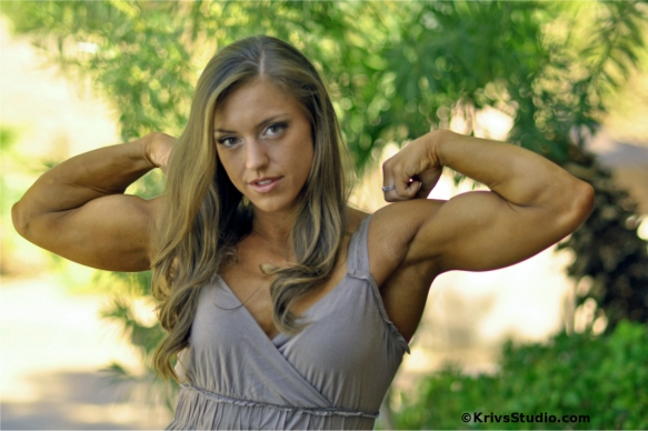 Holland Canter showing off her impressive biceps. Can I touch?