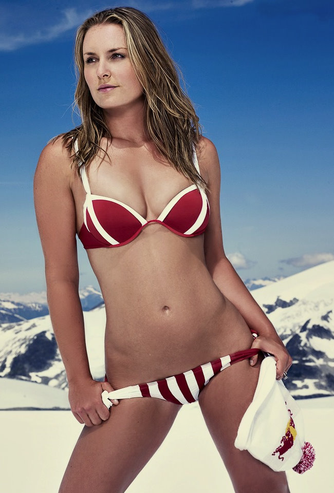 Isn't Lindsey Vonn cold? She's so smoking hot, I highly doubt it.