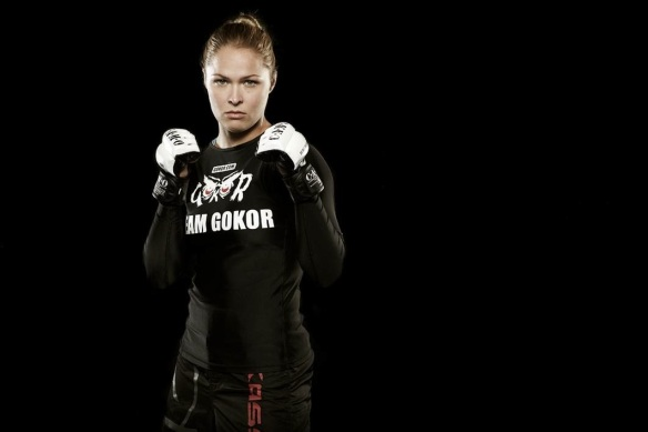 The badass that is Ronda Rousey, perhaps the most popular female athlete on the planet right now.
