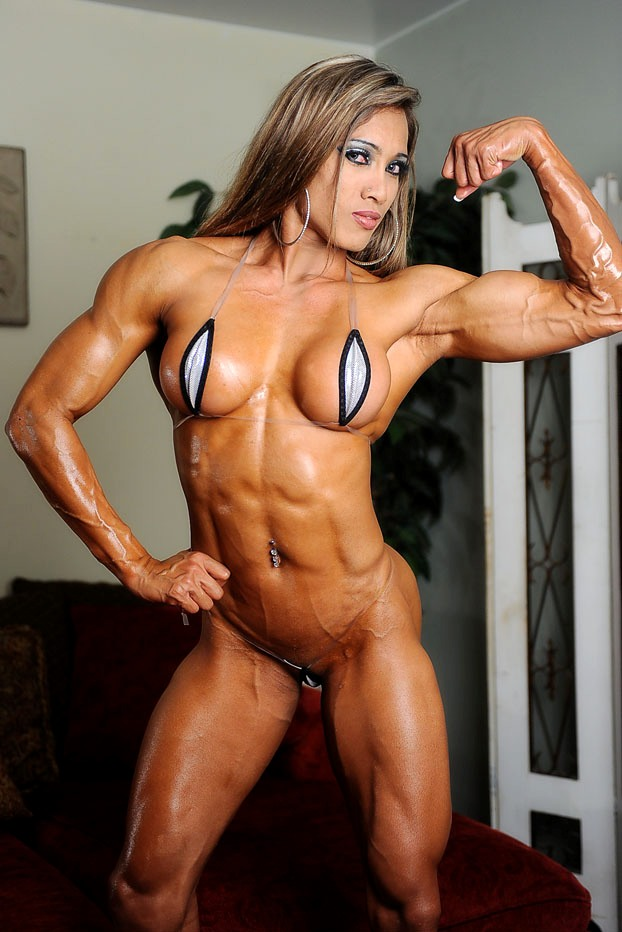 Hand Domination Muscular Women 41