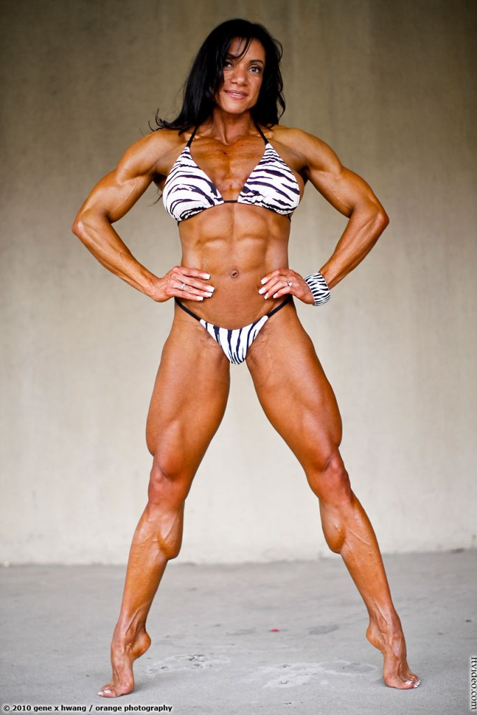 A statuesque Marina Lopez looking triumphant.