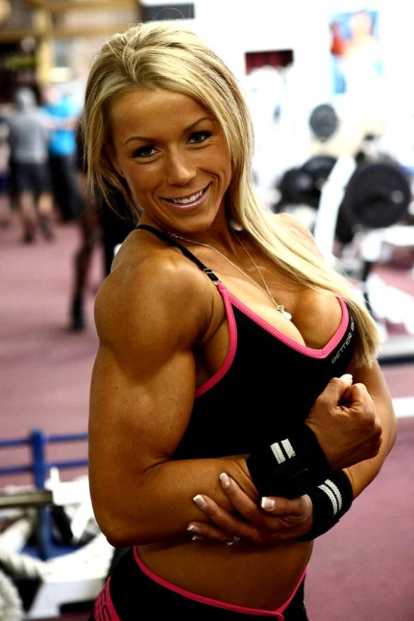 I really want to caress the bicep of Beata Antoninas.