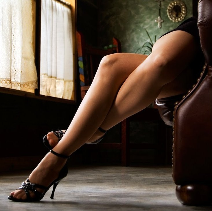 None of these photos are of Blonde Amazon herself, but they represent her in different ways. Beautiful legs, indeed!