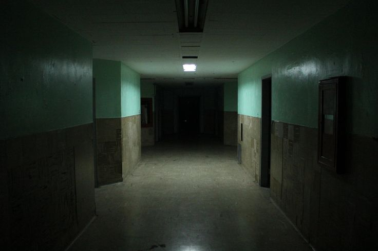 A dark ominous corridor.