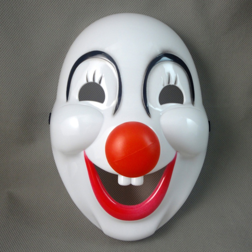 A clown mask.