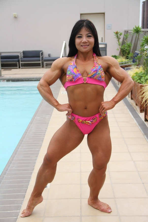 The Asian Muscle Goddess Michelle Jin.