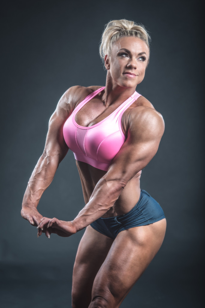 Minna has fantastic muscle development...