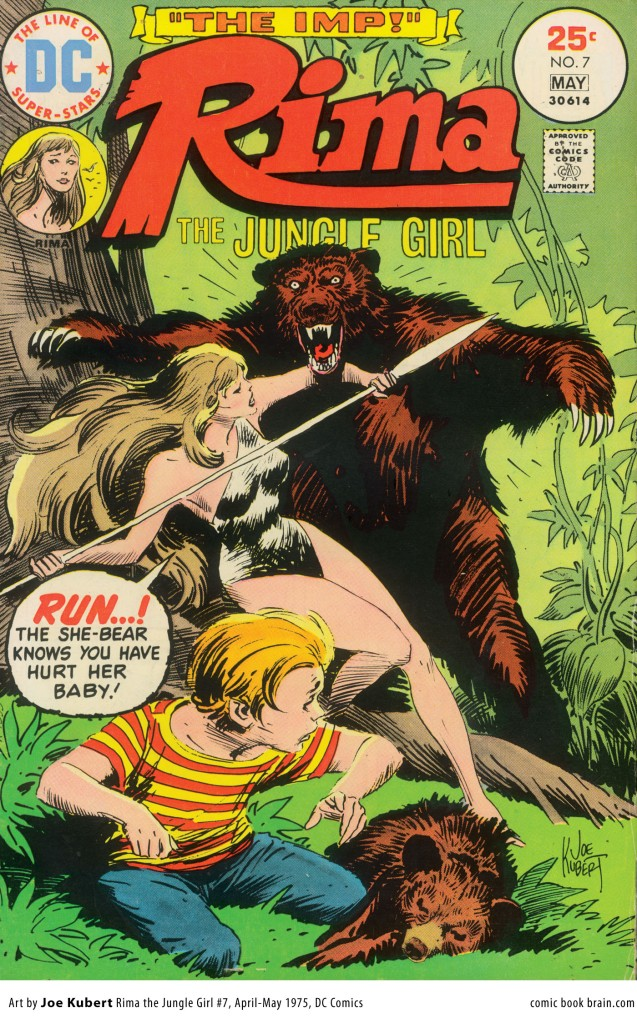 "A typical ""jungle woman"" cover from an old-school pulp novel."