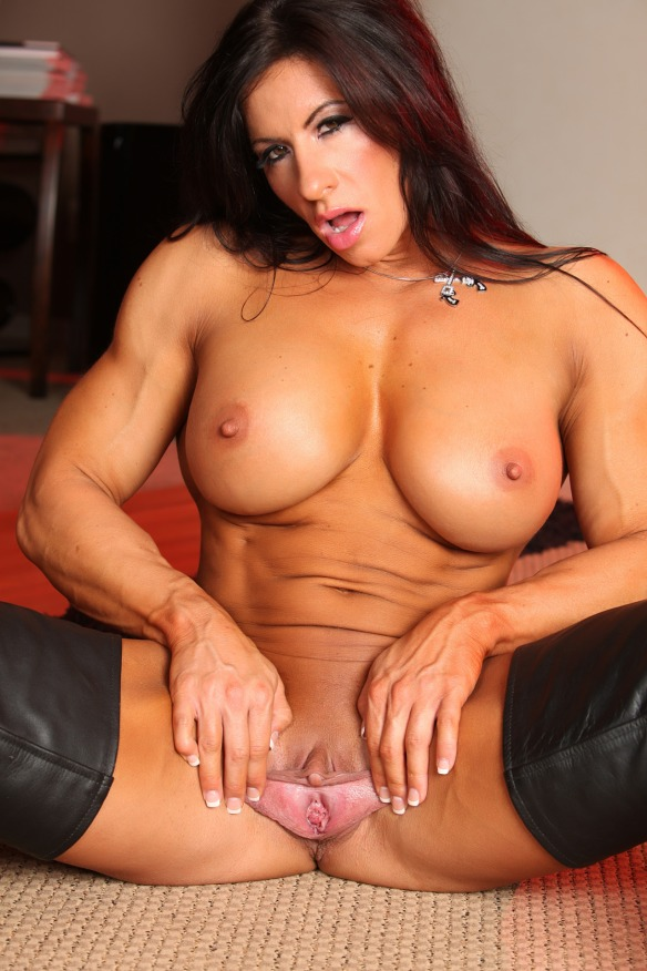 Angela Salvagno sharing with the world her stretched out labia.