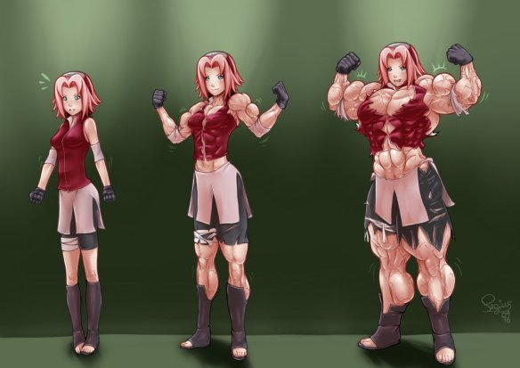 A fan-created FMG interpretation of popular anime character Sakura Haruno.