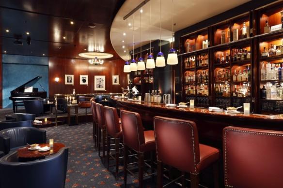 A swanky bar.