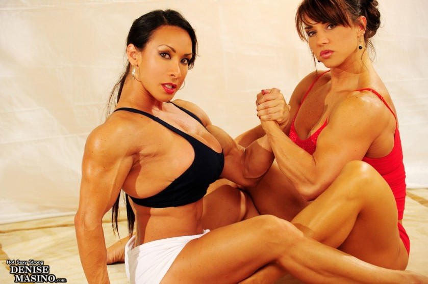 Denise Masino and Roxie Rain are dictionary-definition Muscle Queens.