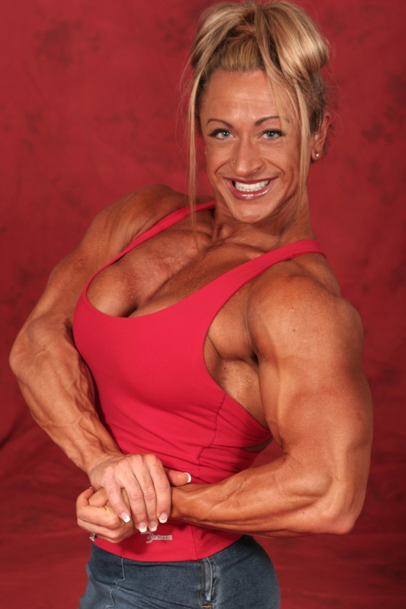 May I touch the biceps of Heather Armbrust?