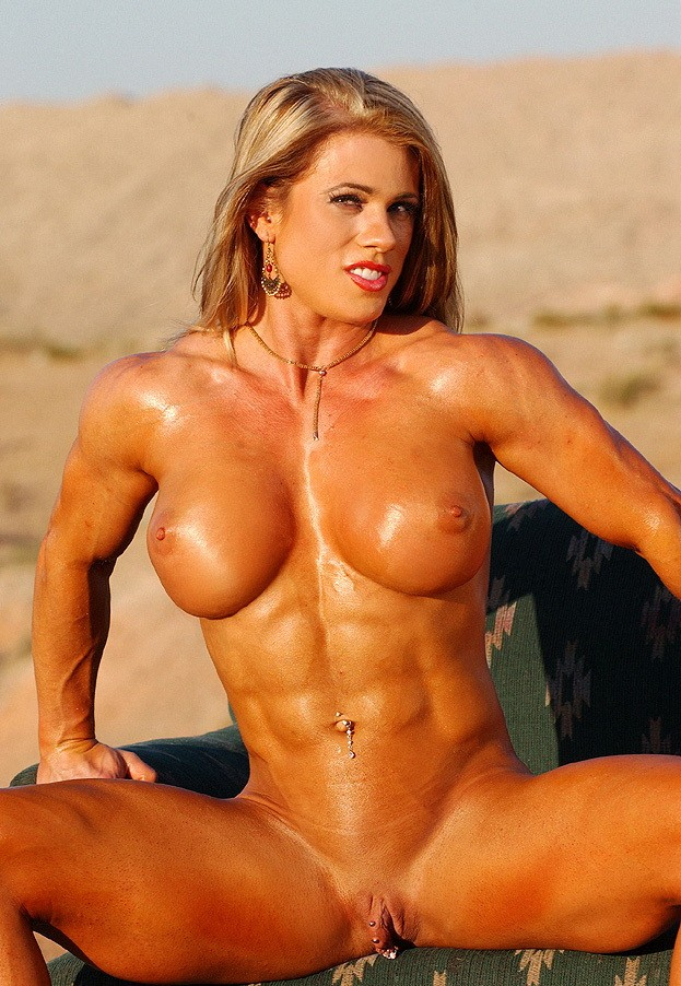 nude female body builder