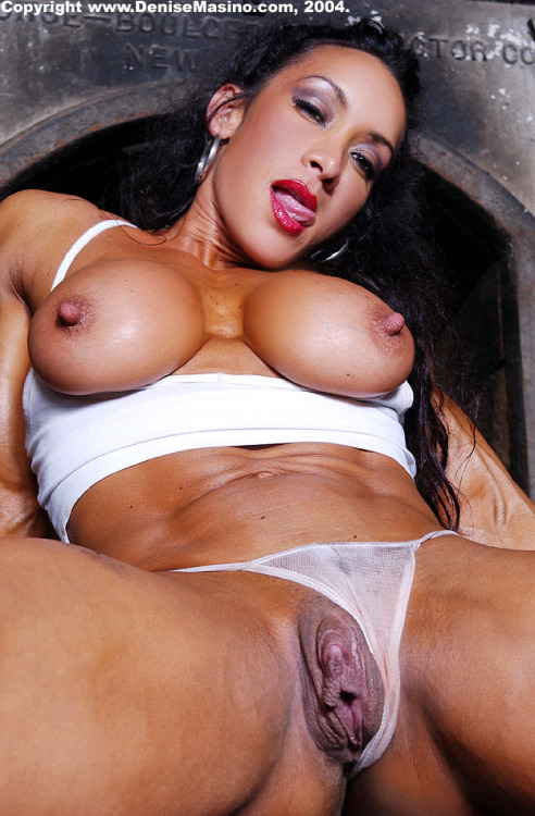 Denise Masino may be well-endowed, but she's not even close to being a man.